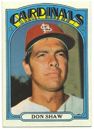 1972 Topps Baseball Cards      479     Don Shaw